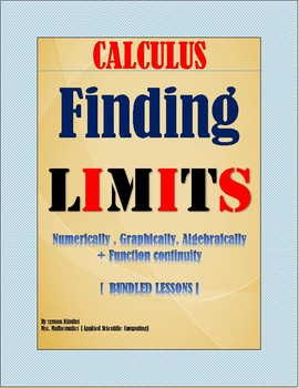 CALCULUS: FINDING LIMITS & FUNCTION CONTINUITY (BUNDLED LESSONS)