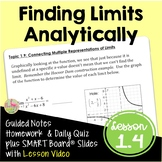 Calculus Finding Limits Analytically (Unit 1) with Lesson Video