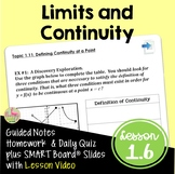 Calculus Limits and Continuity (Unit 1) with Lesson Video