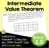 Intermediate Value Theorem (Calculus - Unit 1)