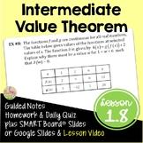 Calculus Intermediate Value Theorem (Unit 1)