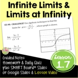 Infinite Limits and Limits at Infinity (Calculus - Unit 1)
