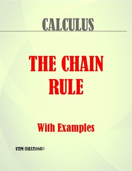 CALCULUS: FINDING A DERIVATIVE BY USING THE CHAIN RULE