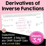 Derivatives of Inverse Functions (Calculus - Unit 2)