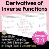 Calculus Derivatives of Inverse Functions (Unit 3) DISTANC