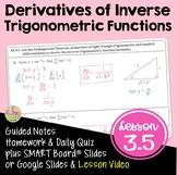 Calculus Derivatives of Inverse Trigonometric Functions (Unit 3)