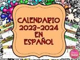 CALENDAR 2018 IN SPANISH