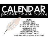 CALENDAR PACK (POCKET CHART)- BLACK AND WHITE