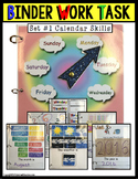 CALENDAR Binder Work Task Set for Special Needs Students and Autism