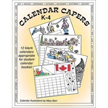 CALENDAR CAPERS (STUDENT CALENDAR BOOKLET) Gr. K-4