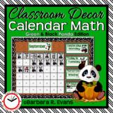 CALENDAR MATH ACTIVITIES Panda Theme Classroom Decor Green