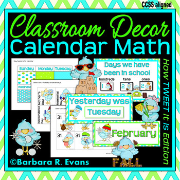 CALENDAR ICONS for Patterning & Predicting: Blue & Green Edition