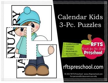 CALENDAR KIDS: 3PC. PUZZLES