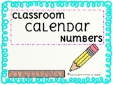 CALENDAR NUMBERS & HOLIDAY CARDS
