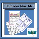 CALENDAR QUIZ ME:  Station Activities For Mastering the Calendar