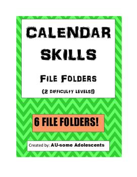 CALENDAR SKILLS File Folders Bundle