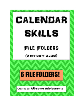 CALENDAR SKILLS File Folders Bundle
