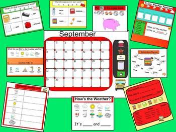 CALENDAR-September SMARTboard Calendar & Activities