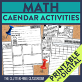 Daily Calendar Activities for 1st-5th Grade | Digital and Printable