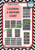 Back To School - CALENDAR & WEATHER CHART - Classroom Decor