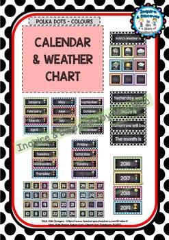 Back To School CALENDAR & WEATHER CHART - Classroom Decor
