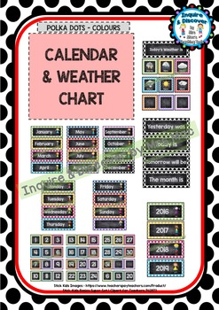 Back To School CALENDAR & WEATHER CHART - Classroom Decor