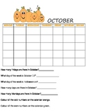 CALENDAR WRITING SHEETS- 1 for each month of the year!