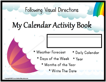 CALENDAR and WEATHER Skills with Data/IEP Goals for Autism