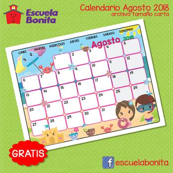 CALENDARIO AGOSTO 2018!! GRATIS!! FREE AUGUST CALENDAR!!!