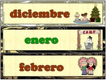 CALENDARIO DE CAMPAMENTO / CAMPING SPANISH CALENDAR SET