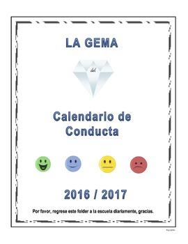 CALENDARIO DE CONDUCTA 2016/2017