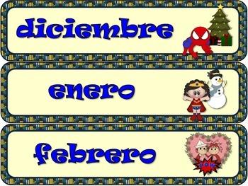 CALENDARIO DE SUPER HEROES. VERSION 2 / SUPER HEROES SPANISH CALENDAR VERSION 2.