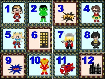CALENDARIO DE SUPER HEROES. VERSION 2 / SUPER HEROES SPANI