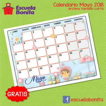 CALENDARIO MAYO 2018!!  GRATIS!! FREE MAY CALENDAR!!!