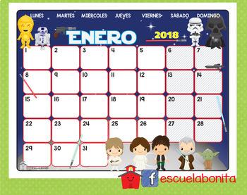 CALENDARIOS 2018 de películas animadas