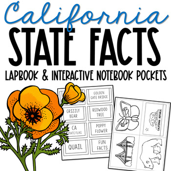 CALIFORNIA State History Lapbook Project, State Symbols, Stress-Free Design