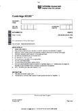 CAMBRIDGE IGCSE MATHEMATICS [0580] FULLY SOLVED PAST PAPER 1 & 3 - CORE