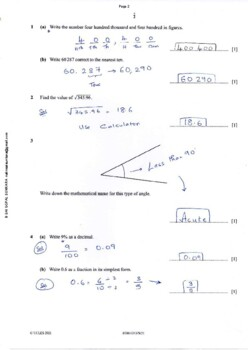 CAMBRIDGE IGCSE MATHEMATICS [0580] FULLY SOLVED PAST PAPER 1 - CORE