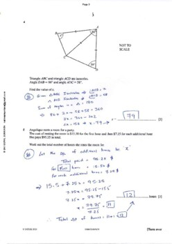 CAMBRIDGE IGCSE MATHEMATICS [0580] FULLY SOLVED PAST PAPER 2 -Ex' -2011 -2018