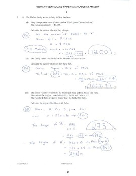 CAMBRIDGE IGCSE MATHEMATICS [0580] FULLY SOLVED PAST PAPER 4 -EXTENDED OCT 2018