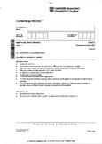 CAMBRIDGE IGCSE MATHEMATICS [0606] FULLY SOLVED PAST PAPER