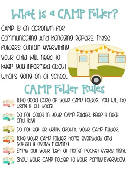 CAMP Communication Folder
