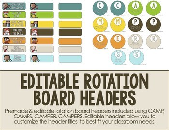 CAMP Guided Math Rotation Board