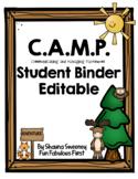 CAMP Student Binder (Editable)