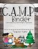 CAMP Theme Daily Folder/Binder Cover