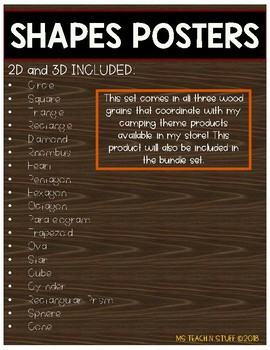 CAMP/WOODGRAIN 2D and 3D SHAPE POSTERS