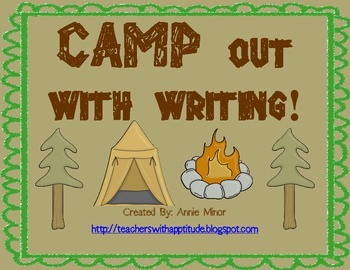 CAMP out with Writing! Classroom Display (Camping/Outdoor Theme)