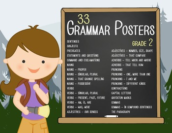 CAMPING - 2nd grade GRAMMAR posters / Scott Foresman Reading