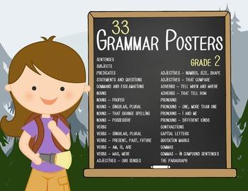 CAMPING - 2nd grade GRAMMAR posters / Scott Foresman Reading