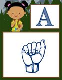 CAMPING - Alphabet Flag Banner, SIGN LANGUAGE